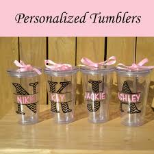 bridesmaid cups personalized bridesmaid tumblers glass set by personalizedgiftsbyj