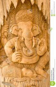 wood carving of ganesha stock photography image 32643782