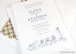 wedding invitations okc oklahoma city skyline wedding invitations