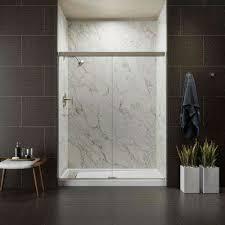 Single Frameless Shower Door Frameless Shower Doors Showers The Home Depot