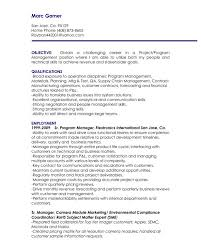 resume objectives for management positions example resume sample