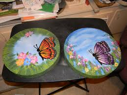 garden stones i painted for a friends birthday gift kreations by
