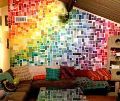 wall art made with paint samples from home depot art