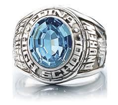 high school class ring value school ring stones