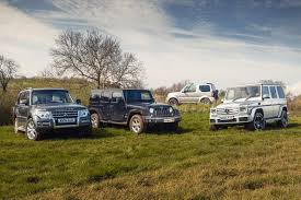 group test mitsubishi shogun vs jeep wrangler vs suzuki jimny vs