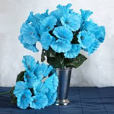 petunia flowers 168 artificial turquoise petunia flowers wedding bridal bouquet