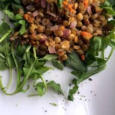 gambino s olive salad warm lentil salad arugula like butter played toast