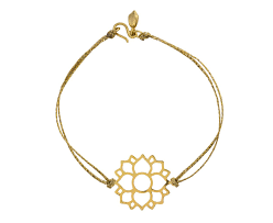 pippa small gold lotus flower bracelet in designers pippa small