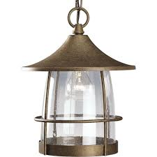 Outdoor Hanging Lights by Progress Lighting Prairie Collection Gilded Iron Outdoor Hanging