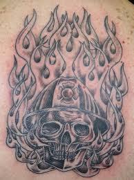 firefighter skull tattoos