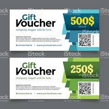 gift voucher template vector graphic design stock vector art