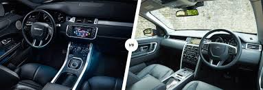 new land rover defender interior range rover evoque vs land rover discovery sport carwow