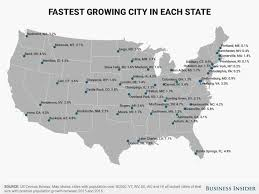 Alaska City Map by Fastest Growing City In Each State Map Business Insider