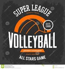 t shirt print with volleyball ball for sport team stock vector
