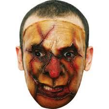 skin mask halloween serial killer burn face mask