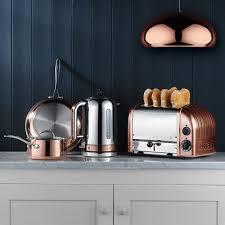 copper kitchen appliances fagor lux multicooker dualit classic kettle chrome with copper