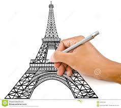 hand drawing eiffel tower royalty free stock image image 25964956