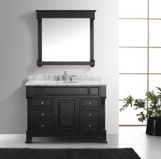 virtu usa huntshire manor 48 single bathroom vanity set in dark