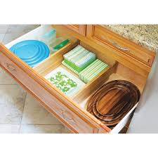 amazon com lipper international bamboo deep kitchen drawer