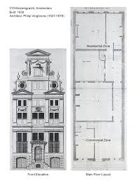 19th Century Floor Plans by Amsterdam U0027s Canal Houses More Than Just A Pretty Facade
