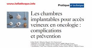 chambre implantable infirmier les chambres implantables pour accès veineux en oncologie pdf via