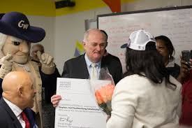 gw surprises eight d c students with full ride scholarships gw