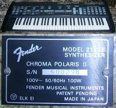 rhodes chroma polaris instrument registry model 2123b polaris ii
