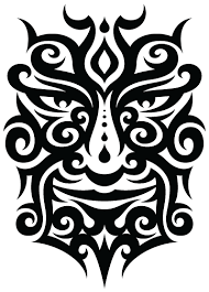 tribal face tattoo isolated stock photo by nobacks com