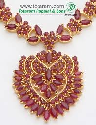 earring necklace ruby images 22k gold rubies necklace earrings long set jpg