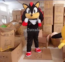 Hedgehog Halloween Costume Shadow Sonic Hedgehog Mascot Black Sonic Costume Cartoon