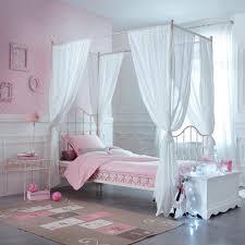 baldacchino lettino letto a baldacchino color avorio in metallo per bambini 90 x 190 cm