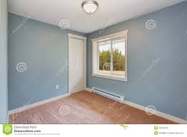 small light blue bedroom in empty house stock photo image 45626740