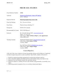 syllabus utep mechanical engineering