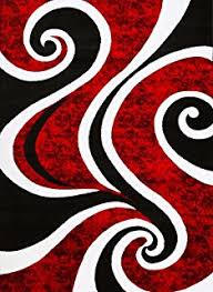 amazon com 1062 red black 5 u00272x7 u00272 area rugs carpet modern
