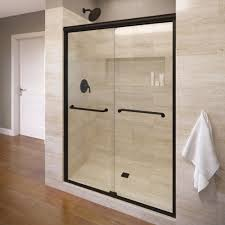 Wood Shower Door by Infinity 47 In X 70 In Semi Frameless Sliding Clear Glass Shower