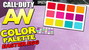 advanced warfare mystery color palette easter egg on recovery