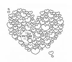 big heart coloring page for kids for girls coloring pages