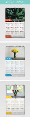 Calendar 2018 Ai Template Wall Calendar 2018 Template Vector Eps Ai Illustrator Calendar
