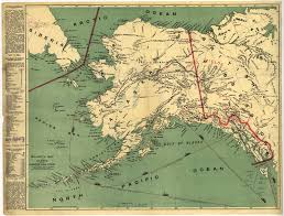Alaska On A Map by Millroy U0027s Map Of Alaska And The Klondyke Gold Fields World