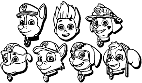 paw patrol coloring pages marshall coloring pages ideas click the