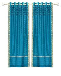 Turquoise Sheer Curtains Turquoise Sheer Panel Window Treatment Curtains