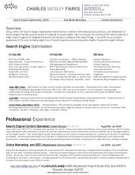 resume search wes faires search engine optimization seo resume