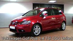 red volkswagen golf volkswagen golf plus 1 4 tsi dsg united 2008 sunset red metallic