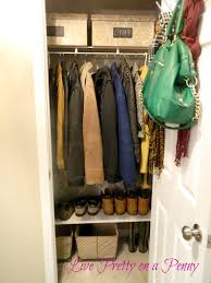 live pretty on a penny tackling the coat closet