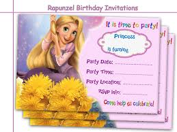 Birthday Invitation Cards Amazing Rapunzel Birthday Invitations By Holidaypartystar On Zibbet