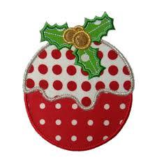 plum pudding applique machine embroidery design pattern