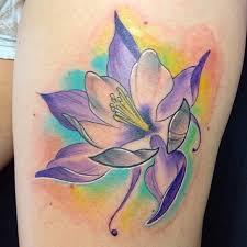 classy columbine flower tattoos tattoodo