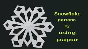 how to make a snowflake designs youtube