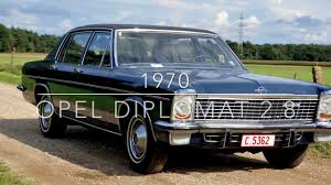 1970 opel cars 1970 opel diplomat 2 8 e automatic youtube