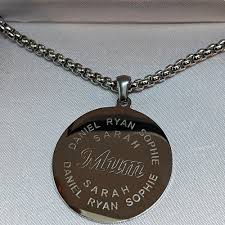 mens engraved necklaces 365 personalised gifts mens engraved jewellery